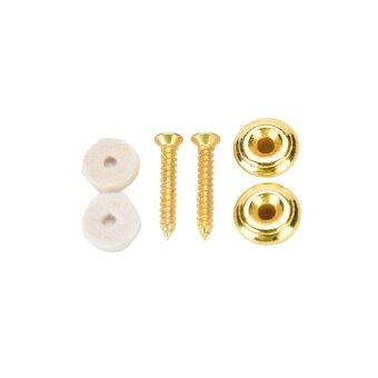 Harga 2 Pcs Guitar Strap Buttons Strap Locks Mushrooms Heads Chrome Gold - intl