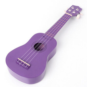 "Harga 21"" Beginners Acoustic Ukulele Practice Uke Ukelele Soprano Children Kids Gifts Purple - Intl"