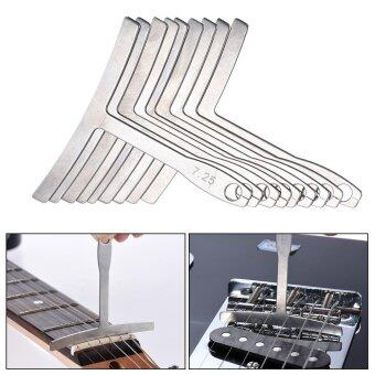 Harga 9pcs/set Understring Stainless Steel Fretboard Radius Gauge Luthier Tools for Guitar Bass Setup Bridge Saddle Adjustment Outdoorfree - intl
