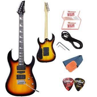 Matrixss กีตาร์ไฟฟ้า Electric Guitar รุ่นME212SB+สายสะพายกีตาร์+สายแจ็คกีตาร์+ที่ขันคอกีตาร์+ปิ๊ก*2+ใบรับประกัน