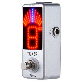 Mini Chromatic Tuner Pedal Effect LED Display True Bypass forGuitar Bass - Intl