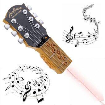 MOMMA รุ่นใหม่ กีต้าร์ ล่องหน อินฟาเรด พกพา เสียงเหมือนจริง สีดำ(Black Air Guitar Infrared Inspire Music )