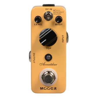 Mooer Acoustikar Guitar Simulator Electric Guitar Effect Pedal Truebypass