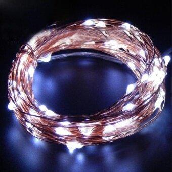 Moonar 2M 20LED Creative Waterproof LED String Light USB ChargeGarden Christmas String Light ( White ) - intl