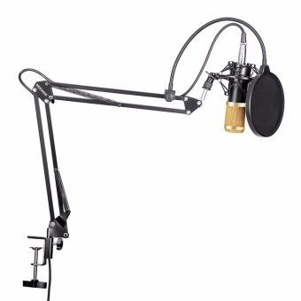 Neewer Professional Studio Broadcasting Recording CondenserMicrophone Mic Kit & NW- 35 Adjustable Recording MicrophoneSuspension Scissor Arm Stand with Shock Mount Adjustable SuspensionScissor Arm Stand Mounting Clamp Pop Filter Outdoorfree - intl