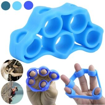 physical therapy hand finger gripping exerciser finger exercise hand grip exerciser finger trainer Blue - intl