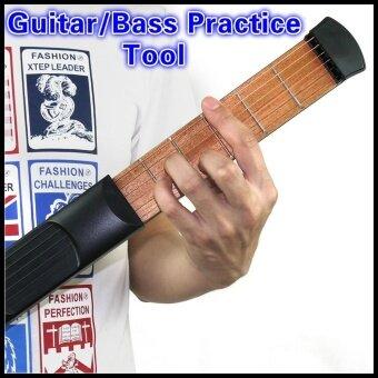 Pocket Guitar Portable Pocket Acoustic Guitar Practice Tool GadgetChord Trainer 6 String 6 Fret Model for Beginner - intl