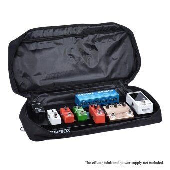 Portable Guitar Effect Pedal Board Pedalboard Aluminum Alloy with Carrying Bag Case Box 2 Fastener Tapes Black ^ - intl