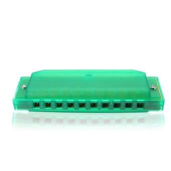 Harga Swan 10 Holes 20 Scales Blues Colorful Plastic C Key Harmonica InRandom Color Green - intl