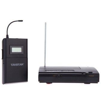มอนิเตอร์ระบบไร้สาย Takstar WPM-200 UHF50แผ่นระยะการส่งข้อมูลแบบหูหูฟังสเตอริโอชุดหูฟังโทรศัพท์วิทยุโทรทัศน์แอลซีดี6 ส่วนที่ช่อง