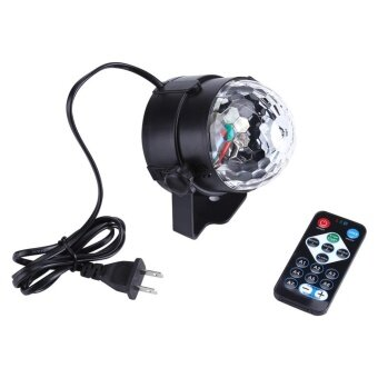 TMISHION 3W 110~240V Mini RGB LED Stage Light Pub Disco Party Effect Lamp with Remote Controller (US Plug) - intl
