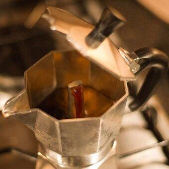 กาต้มกาแฟสดเครื่องชงกาแฟสด แบบปิคนิคพกพา ใช้ทำกาแฟสดทานได้ทุกที ขนาด 3 Cup 150 ml (สีเงิน) - 4