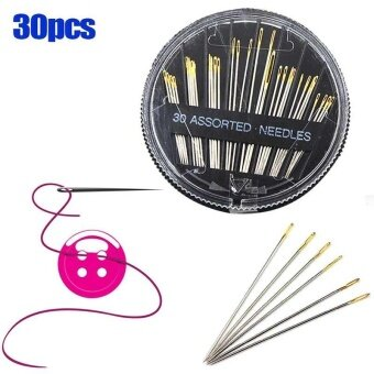 30 Pcs/Set Assorted Repair Sewing Needles Hand Mending Craft QuiltSew Embroidery Leather Tool - intl