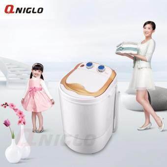 เครื่องซักผ้ามินิ Cleaning Machine ขนาด 5.2 กิโลกรัม เครื่องซักผ้าเปิดฝาด้านบน เครื่องซักผ้าและเครื่องอบผ้า(ทอง)
