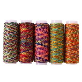 5pcs Rainbow Color Sewing Thread Hand Quilting Embroidery - intl