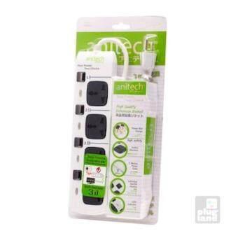 2560 Anitech ปลั๊กพ่วง 4 ช่อง รุ่น H304-WH (สีขาว)