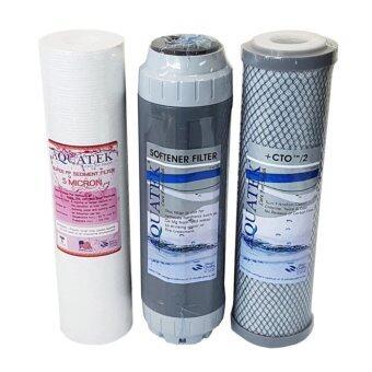 Aquatek ชุดไส้กรองน้ำ มาตรฐาน 10 (PP, Carbon, Resin)