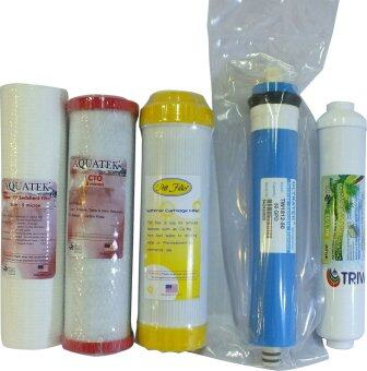 Harga AQUATEK Water Filter ชุดไส้กรองน้ำ RO Standard Set A