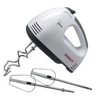 Harga BEST Electric 7 Speed Egg Beater Flour Mixer Mini Electric Hand Held Mixer (White)