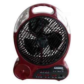 CASIKO พัดลมไฟฉาย ฟังเพลงได้ พร้อมช่อง SD/USB 3in1 รุ่น CK-2289M\n(Original)