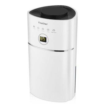 Finether 1.1L/D Digital Air Dehumidifier Anion UV Air Purify EU Plug (White) - intl - 2