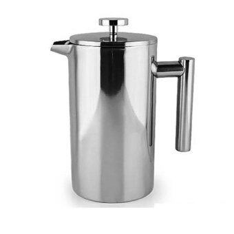French Press Coffee Tea Pot Brewer with filter Stainless SteelDouble Wall - intl