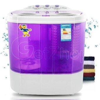 ต้องการขาย เครื่องซักผ้าเปิดฝาด้านบน Cleaning Machine แบบสองถัง ขนาดถัง 4 กิโลกรัม โมเดล XPB40-1288S - (สีม่วง)