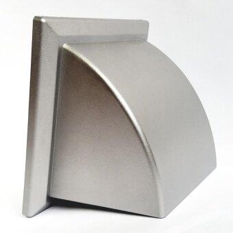 GFLOW หน้ากากท่อระบายอากาศฝาครอบโค้ง ท่อ 4 มีเกร็ด (สี Silver)
