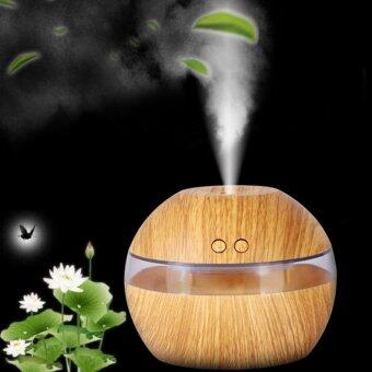 HengSong Ultrasonic Aroma Oil Diffuser Air Humidifier Purifier AirCleaner(Light wood color) - intl