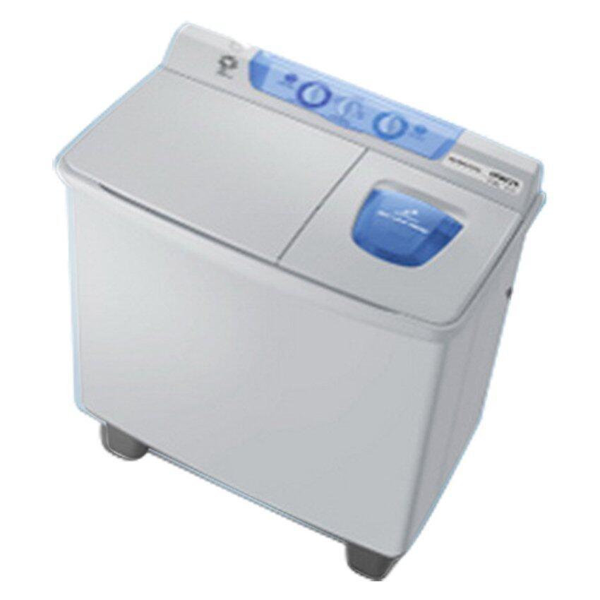 Hitachi เครื่องซักผ้าสองถัง - รุ่น PS-110 LJ สีเทา