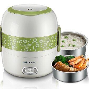 ประกาศขาย Hot item Electric Lunch Box กล่องใส่อาหารไฟฟ้า Multifunction 3 in1 (สีเขียว)