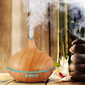 Harga 300ml Air Humidifier Essential Oil Diffuser Aroma Lamp Aromatherapy Electric Aroma Diffuser Mist Maker for Home-Wood - intl