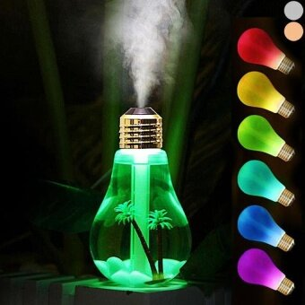 Harga 6 Color Change Lamp Bulb Humidifiers Aroma LED Air Diffuser USB Purifier (Gold) - intl