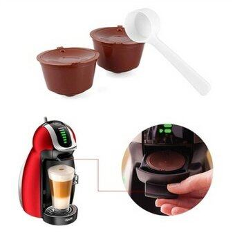 Harga 2X Refillable Reusable Coffee Capsule Pods Cup for Nescafe Dolce Gusto Machine - intl