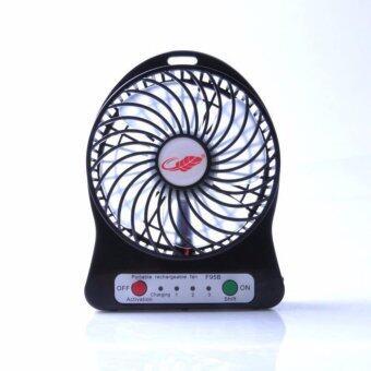 J2C Mini fan พัดลมพกพาขนาดเล็ก ชาร์จสายUSB ใส่ถ่าน ลมแรง