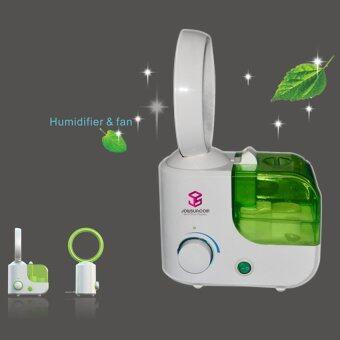 JOWSUA พัดลมไร้ใบพัดไอน้ำตั้งโต๊ะ Bladeless Fan Desk Air Humidifier(Green)