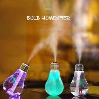 ซื้อ/ขาย เครื่องพ่นไอน้ำ เพิ่มความชื้นในอากาศ มีไฟLEDเปลี่ยนสีได้ USB Lamp Bulb Humidifier Home Aroma LED Humidifiers Air Diffuser Purifier For Car/Household Use Mute ABS Drop Shipping With Retail Package