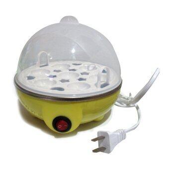 Lotte Egg Cooker เครื่องทำไข่ลวก ไข่ต้ม ไฟฟ้า ขนาดความจุ 7 ฟอง(ํYellow)