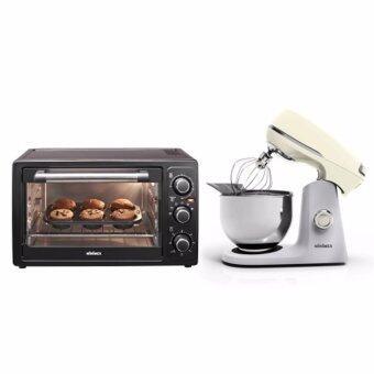 ลดราคา Minimex ชุดเตาอบและเครื่องผสมอาหาร Set 30 Cream