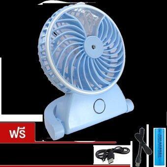 2560 MiniSo Misting Fan Cool Mist Humidifier Rechargeable Fanพัดลม พกพา สายหมอก ชาร์จไฟได้ รุ่นZW-178(Blue) แถมฟรี พัดลมUSB (คละสี)