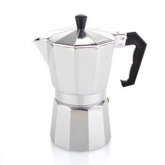 moka pot กาต้มกาแฟสดพกพา ขนาด 3 cupหรือ 150 ml (Silver)