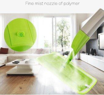 New fashion spray mop Aluminium Pole Microfiber 360 rotating mopMultifunction rotate mops floor cleaning Tools (Green)