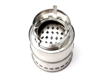 Outdoor Wood Coal Burning Stove Backpacking Portable SurvivalCamping Stove - 4