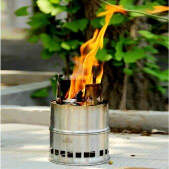 Outdoor Wood Coal Burning Stove Backpacking Portable SurvivalCamping Stove - 2