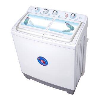 Plasma เครื่องซักผ้า 2 ถัง ขนาด 10.5 kg. รุ่น PWM1051 (ลายขนนก)