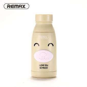 Remax พัดลมพกพาไฟฉายในตัวรุ่น F4 ลายการ์ตูน (brown)