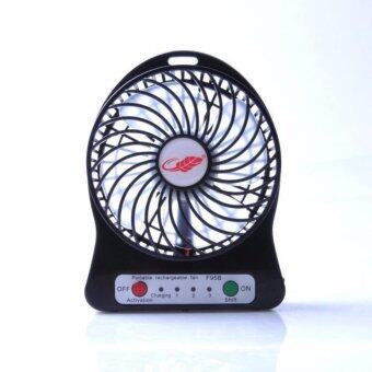 SEVEN SHOP Mini fan พัดลมพกพาขนาดเล็ก ชาร์จสายUSB ใส่ถ่าน ลมแรง