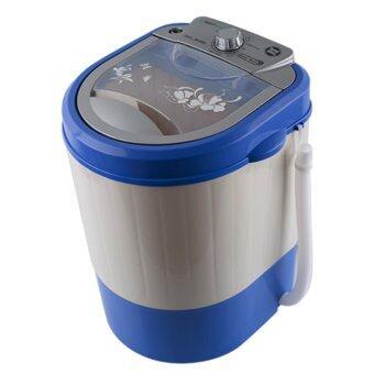 ต้องการขาย เครื่องซักผ้าขนาดเล็ก mini size สีฟ้า แบรนด์ Smarthome รุ่น SM-WM01