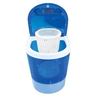 อยากขาย เครื่องซักผ้ามินิแบบเปิดฝาด้านบน Sonar ระบบปั่นแห้งในตัว 2in1 โมเดล EW-A160 - สีฟ้า