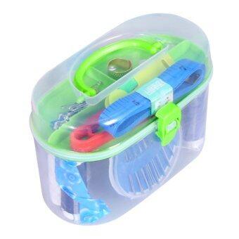 ด้ายเย็บชุด Threader เข็มปลอกนิ้วเย็บกระเป๋ากล่องเทปวัดตะไกร